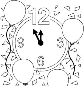 часы и воздушные шарики