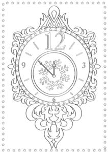 красивые часы с узорами