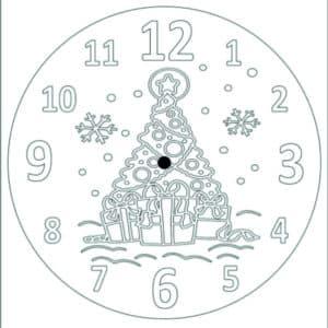 часы с елкой