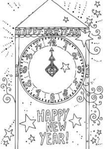 новогодние часы и звездочки