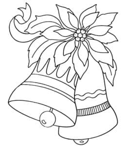 новогодние колокольчики и цветок