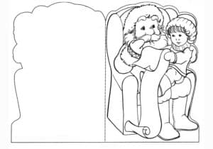 открытка дед мороз и ребенок