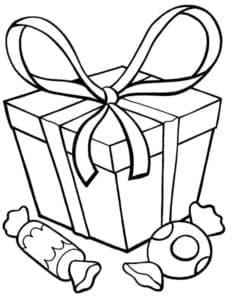 подарок и конфеты