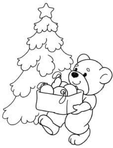 Медвежонок и елка
