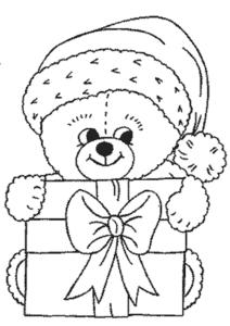 маленький медвежонок с подарками
