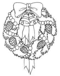 новогодний венок с шишками