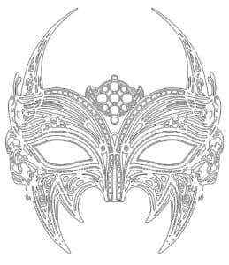 новогодняя маска с узорами