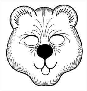 маска медведь