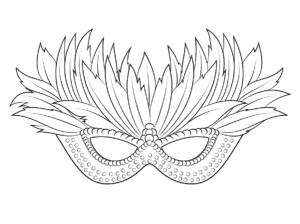 маска с лепестками