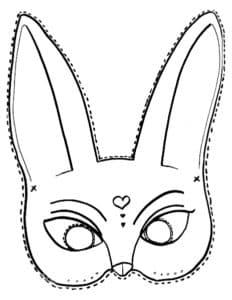 маска зайчик