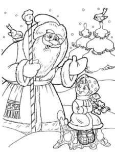 дедушка мороз и девочка