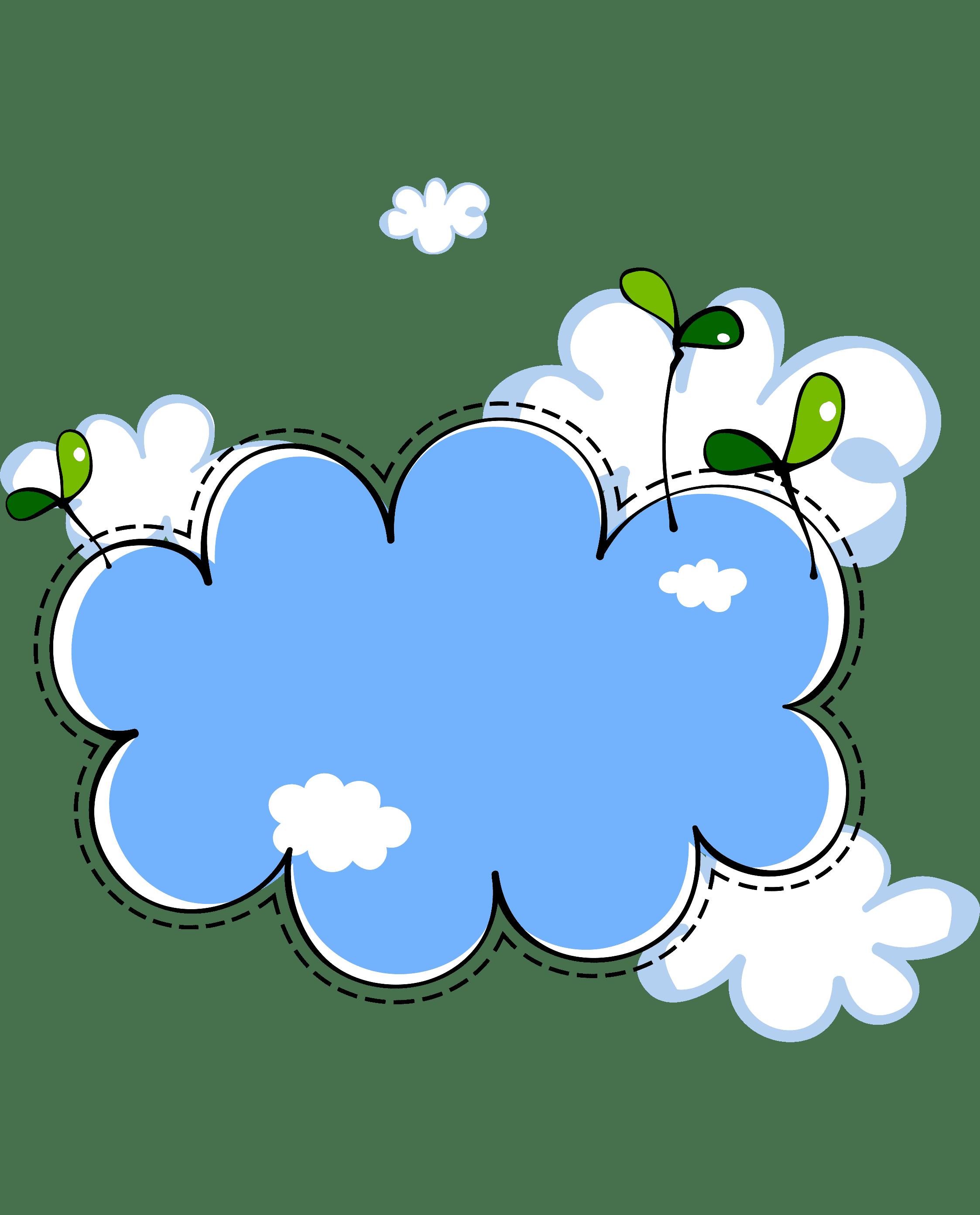Раскраска Облако