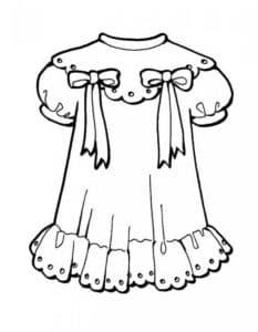 раскраска платье для ребенка