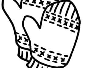 детские варежки раскраска