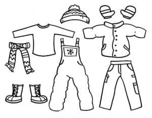 детская одежда раскраска картинка