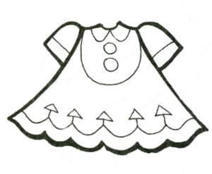 платье детское с треугольниками