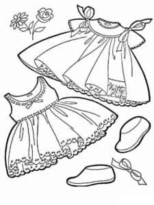 платья и обувь