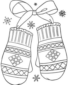 варежки с бантиком
