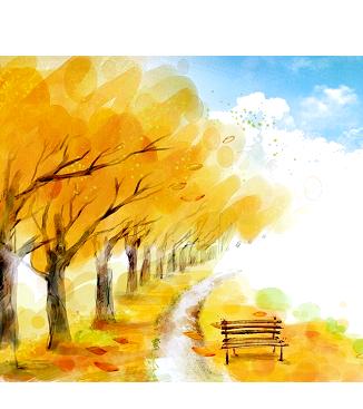 Раскраски Осенний пейзаж