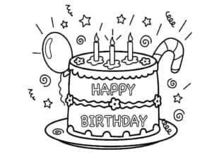 Большой торт и воздушный шар