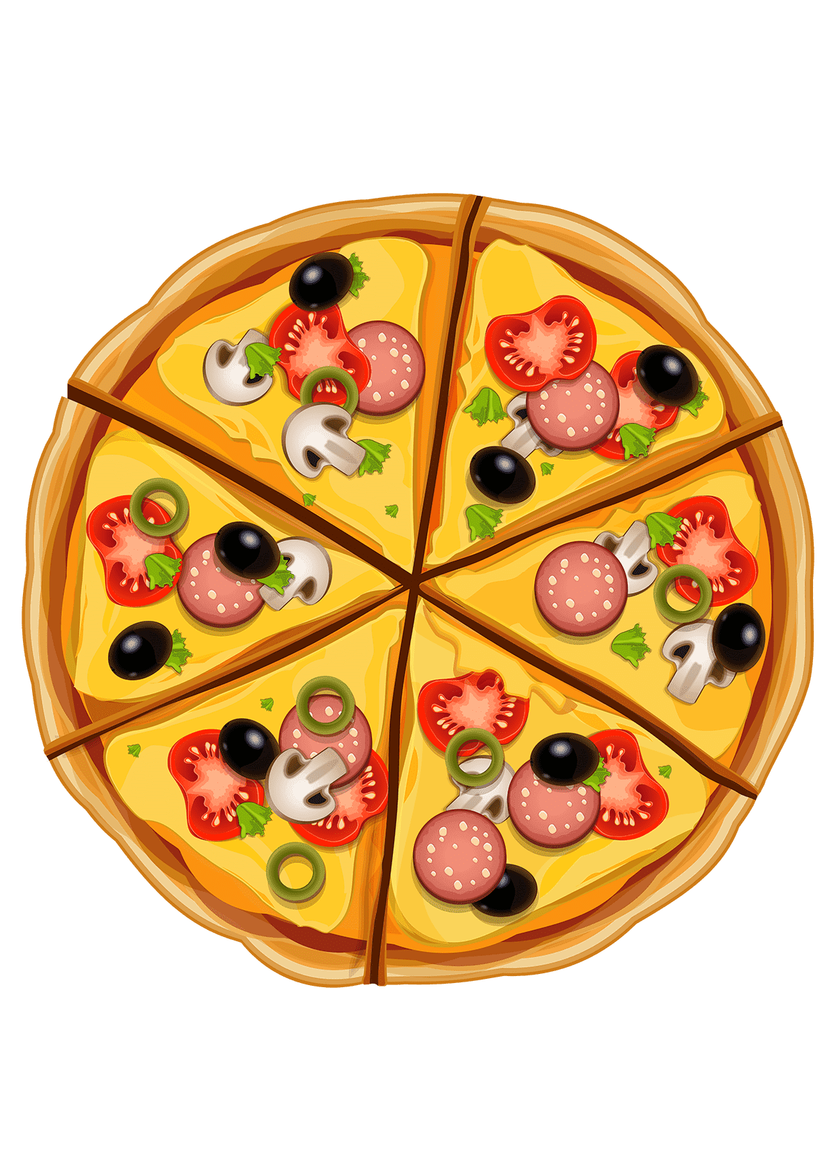 Раскраска Пицца