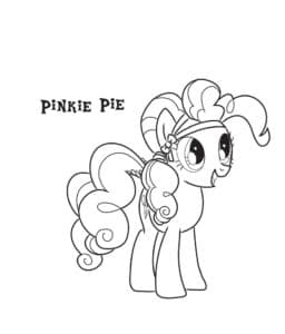 Пинки Пай радостная