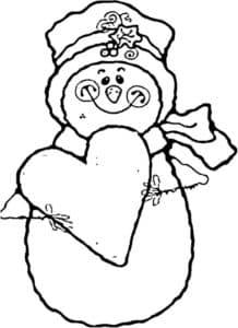 снеговик с сердечком