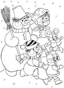 снеговики и звери