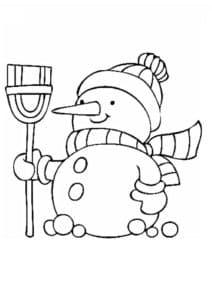 маленький снеговик раскраска