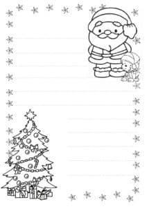 Письмо деду морозу с елкой и сантой