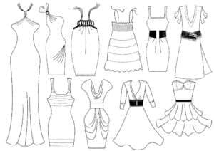 Много разных платьев