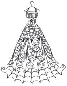 Платье паутинка