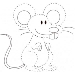 мышка раскраска по точкам