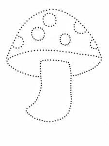 мухомор раскраска по точкам