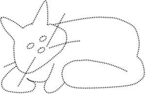 большой кот раскраска по точкам
