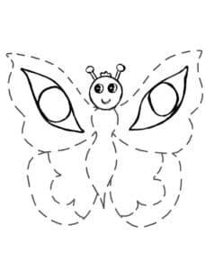 бабочка раскраска по точкам