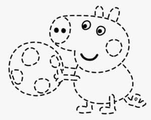 раскраска свинка пеппа по точкам