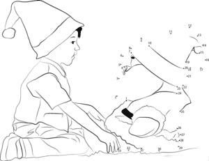 ребенок и гном