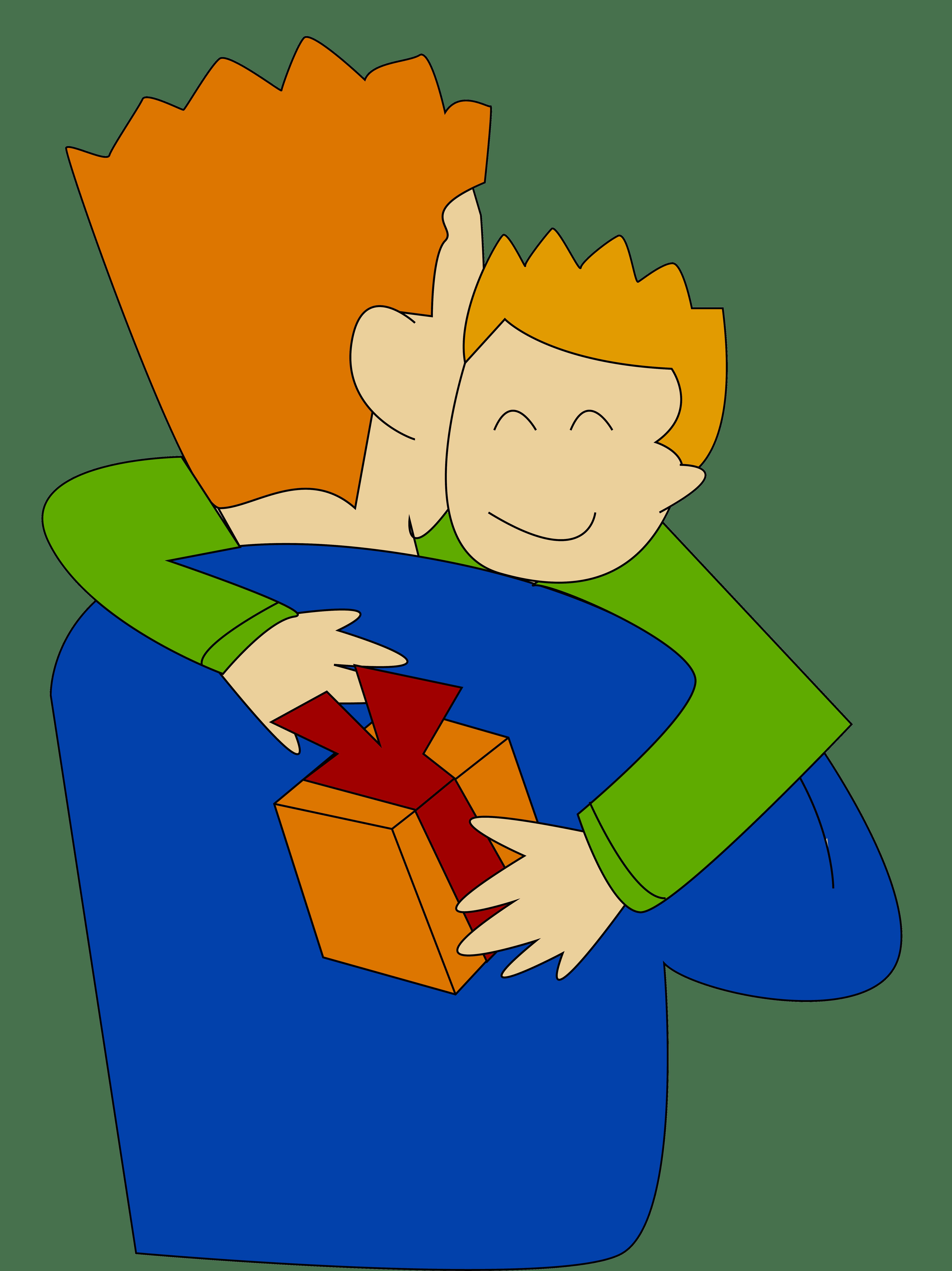 Раскраска Подарок Папе