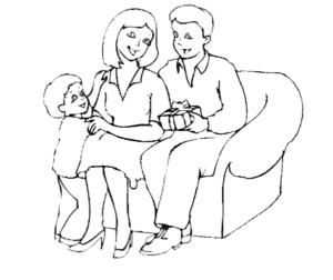подарок папе от мамы и ребенка