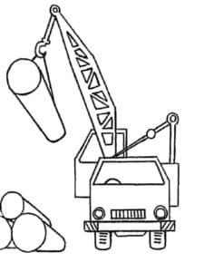 подъемный кран и трубы