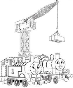 подъемный кран и паровозики