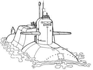 Подводная лодка раскраска для ребенка