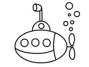 Подводная лодка и пузыри