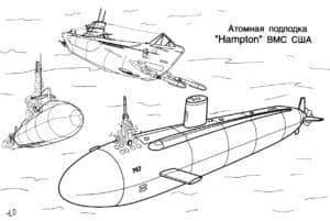 """Атомная подводная лодка """"Hampton"""" ВМС США"""