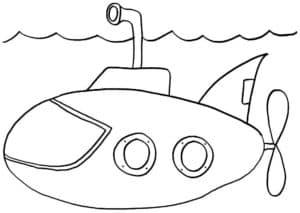 маленькая подводная лодка с винтом