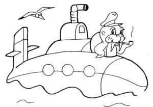 Моряк на подводной лодке