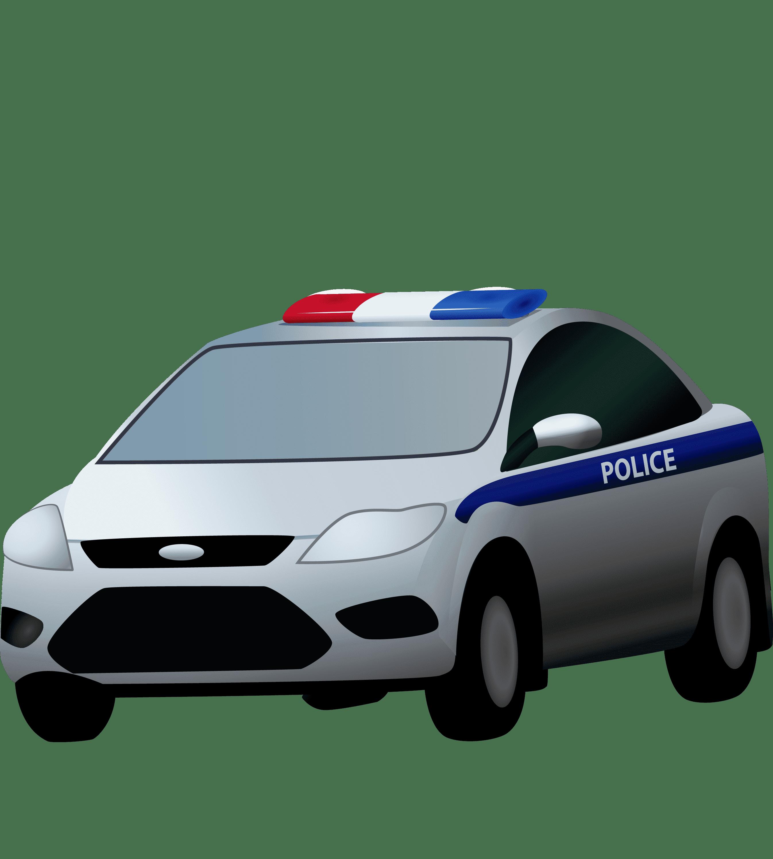 Раскраска Полицейская машина