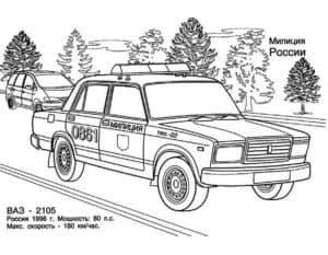 Машина милиции России ВАЗ 2105