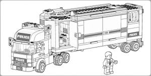 Полицейский фургон раскраска для ребенка